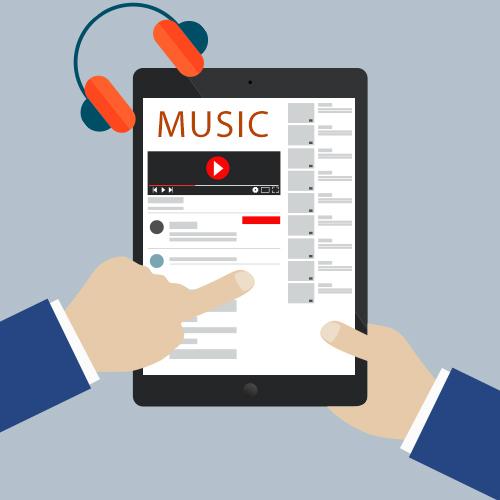 وب سایت موسیقی رسپانسیو در موبایل