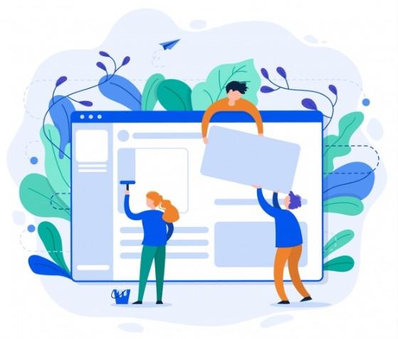 طراحی و چیدمان بخش های مختلف وب سایت