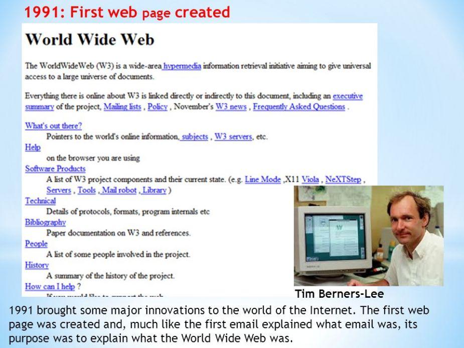 اولین طرحی وب در دنیا